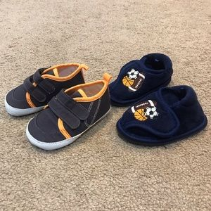 Baby Boy Shoe & Slipper Bundle sz 3/4